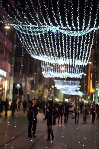 İstiklal Caddesi yılbaşına hazır