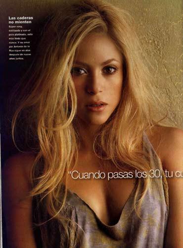 Shakiradan üstsüz pozlar