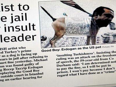 Erdoğana ağır hakaret