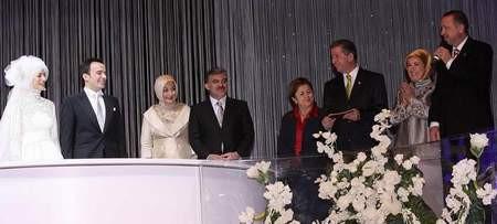 Cumhurbaşkanı Gülün kızı Kübra Gül evlendi