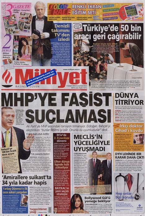 Manşetlerde Devrimci Karargah ve MHP var