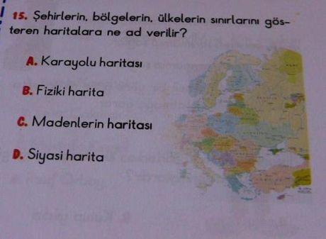 Okul kitabında harita skandalı