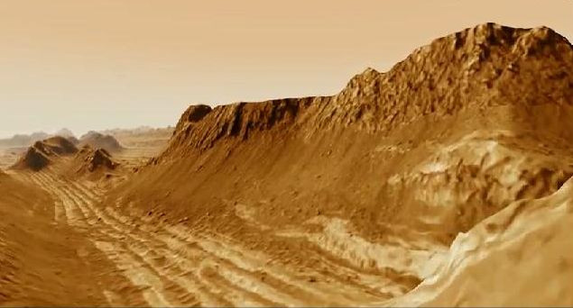 Marsa çığ düştü
