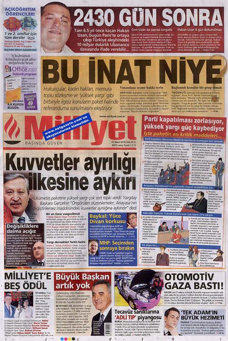 Günün gazete manşetleri