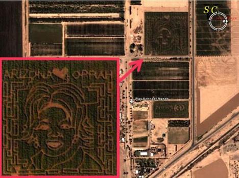 Uydudan görülen tuhaf yapılar