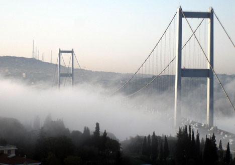 İstanbuldan sis manzarası