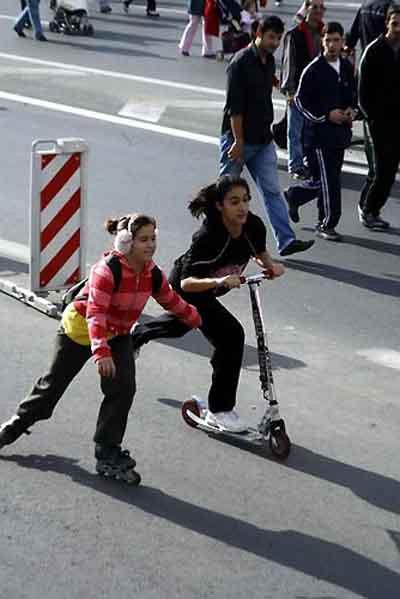 Teröre lanet mitingi gibi Avrasya Maratonu