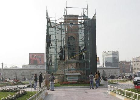 Cumhuriyet Anıtı yenilendi