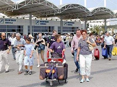 Turistler birbirinden rahatsız