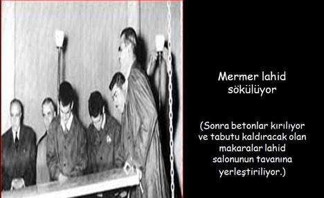 Atatürkün mezarı böyle açılmıştı