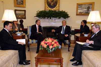 Beyaz Saraydaki kritik Bush - Erdoğan zirvesi