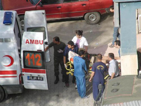 Yaralı askerler hastaneye böyle getirildi