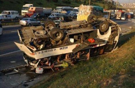 TEMde trafiği felç eden kaza