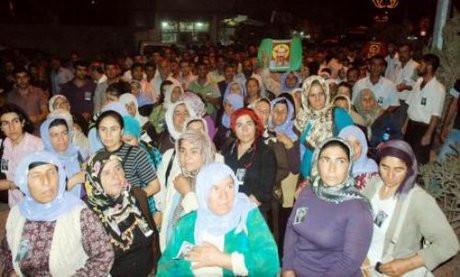 Öldürülen PKKlıya cenaze töreni !