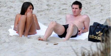 Messi tatilde görüntülendi