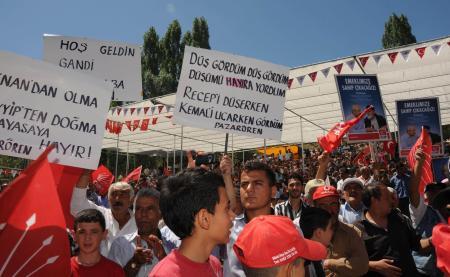 Kılıçdaroğlunun çok sevdiği pankart