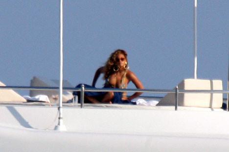 Beyonce tatilde!