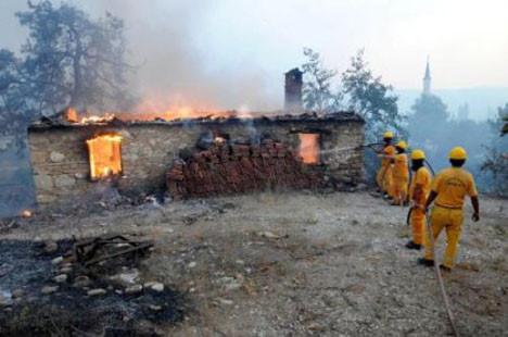 Antalyada yangın