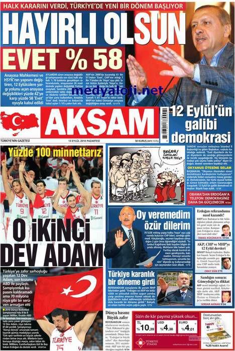 İşte 13 Eylül sabahının gazete manşetleri