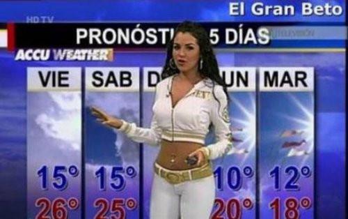 Meksikada hava durumu böyle sunuluyor!