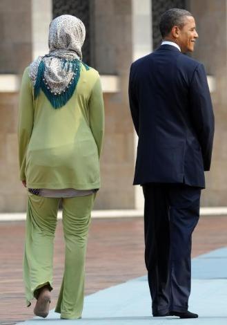 Obamalar İstiklal Camiini gezdi