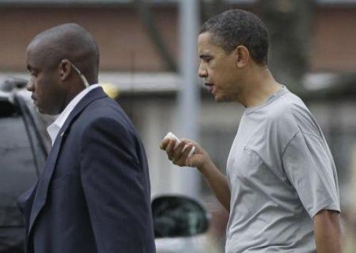 Obamanın dudağını patlattılar!