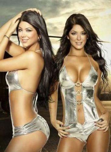 Podyumun ikiz güzelleri
