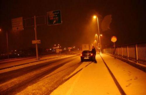 İstanbulda kar başladı
