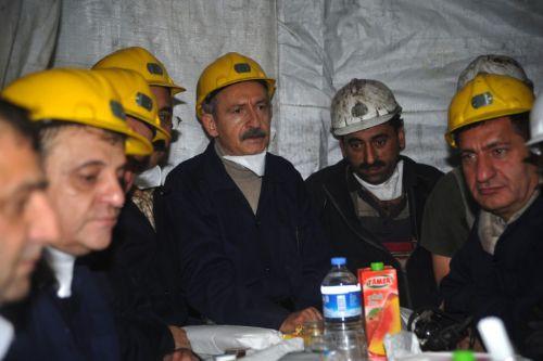Kılıçdaroğlu yeni yıla madende girdi