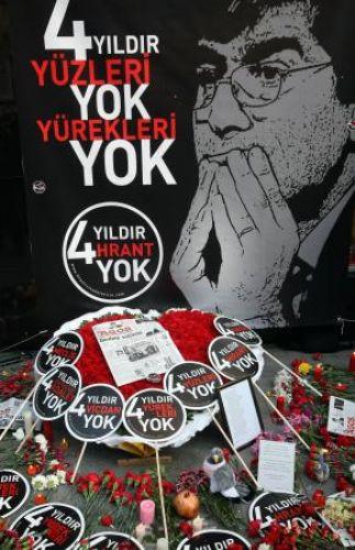 Hrant Dink ölümünün 4. yılında anıldı