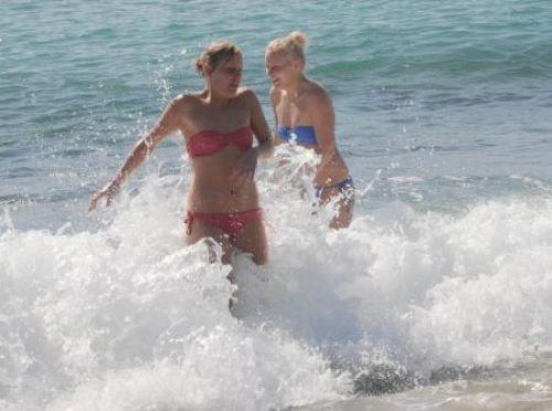 Alanya sahillerinde yaz görüntüleri
