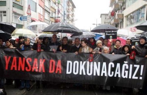 Gazetecilere özgürlük yürüyüşü!
