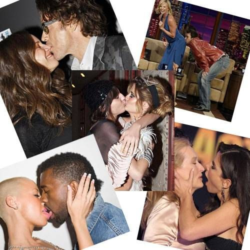 Ünlülerin öpüşme kareleri
