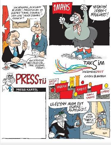 En komik 1 Mayıs karikatürleri
