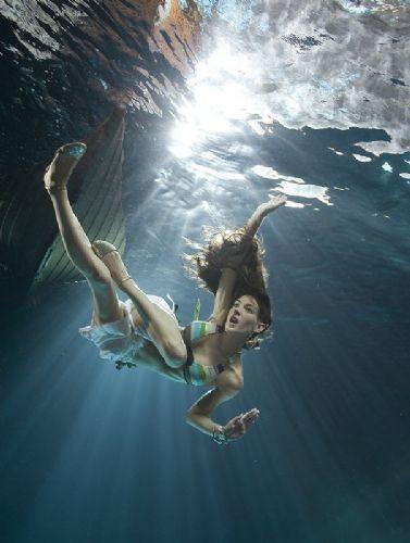 Su altı reklam sanatı