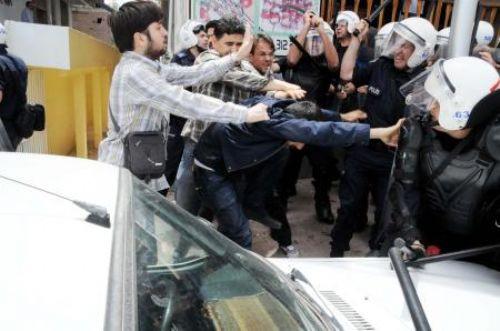 BDPliler polisle çatıştı!