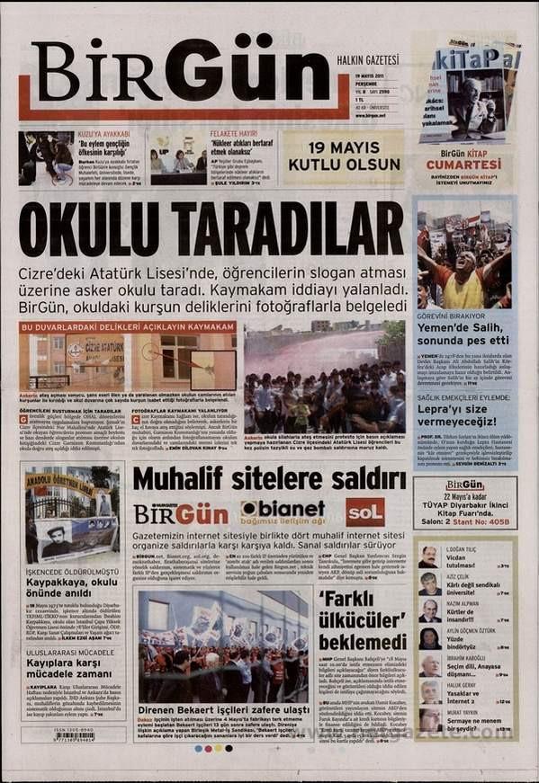 19 Mayısı görmeyen tek gazete