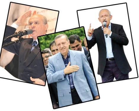 Üç lider, üç stil!