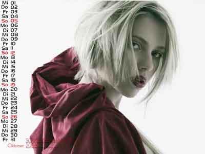 Scarlett Johansson takvim kızı oldu