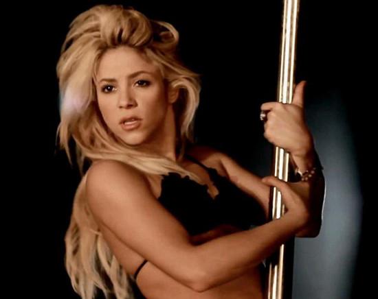 Shakira striptiz yaptı
