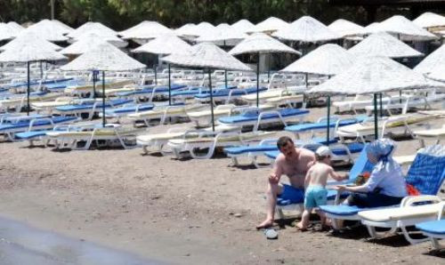 Bodrum sahilleri boş kaldı
