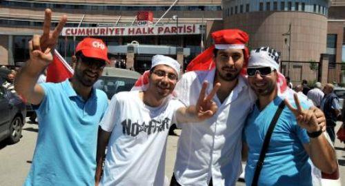 Kılıçdaroğluna destek gösterisi