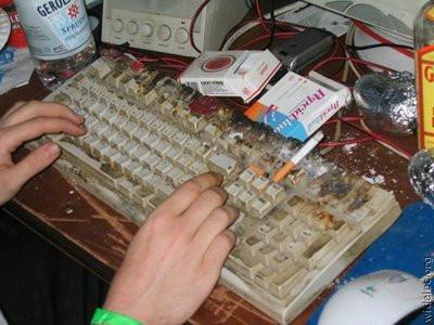Klavye, klozetten 400 kat pis !