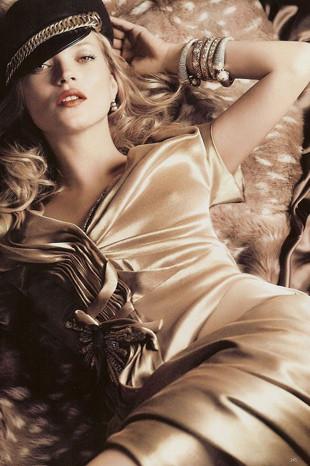 Kate Mosstan Vogue için özel pozlar
