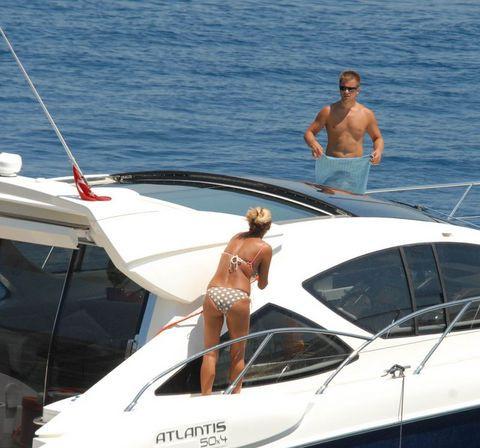 Teknede aşk dolu anlar