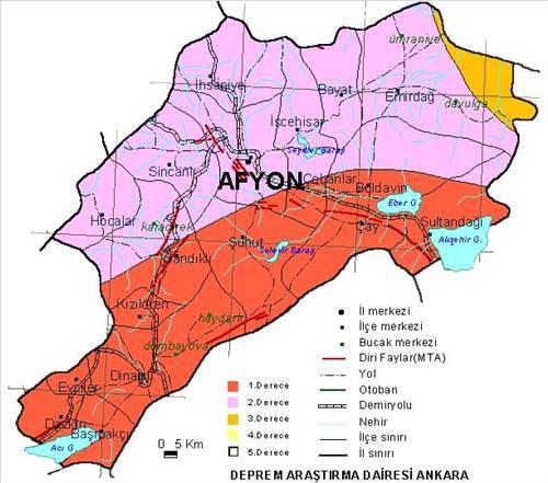 Türkiyenin deprem haritası