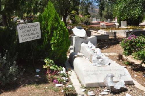 Can Yücelin mezarına saldırı !
