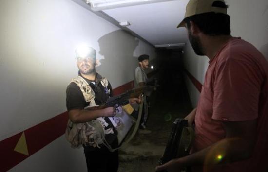 İşte Kaddafinin tünelleri