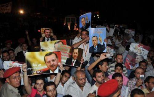 Erdoğana Kahirede miting gibi karşılama