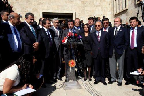 Meclis açılışına damga vuran kareler